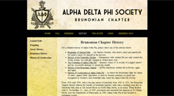 Alpha Delta Phi Society Brunonian Chapter