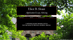 Eliot B. Sloan Application Essay Advising